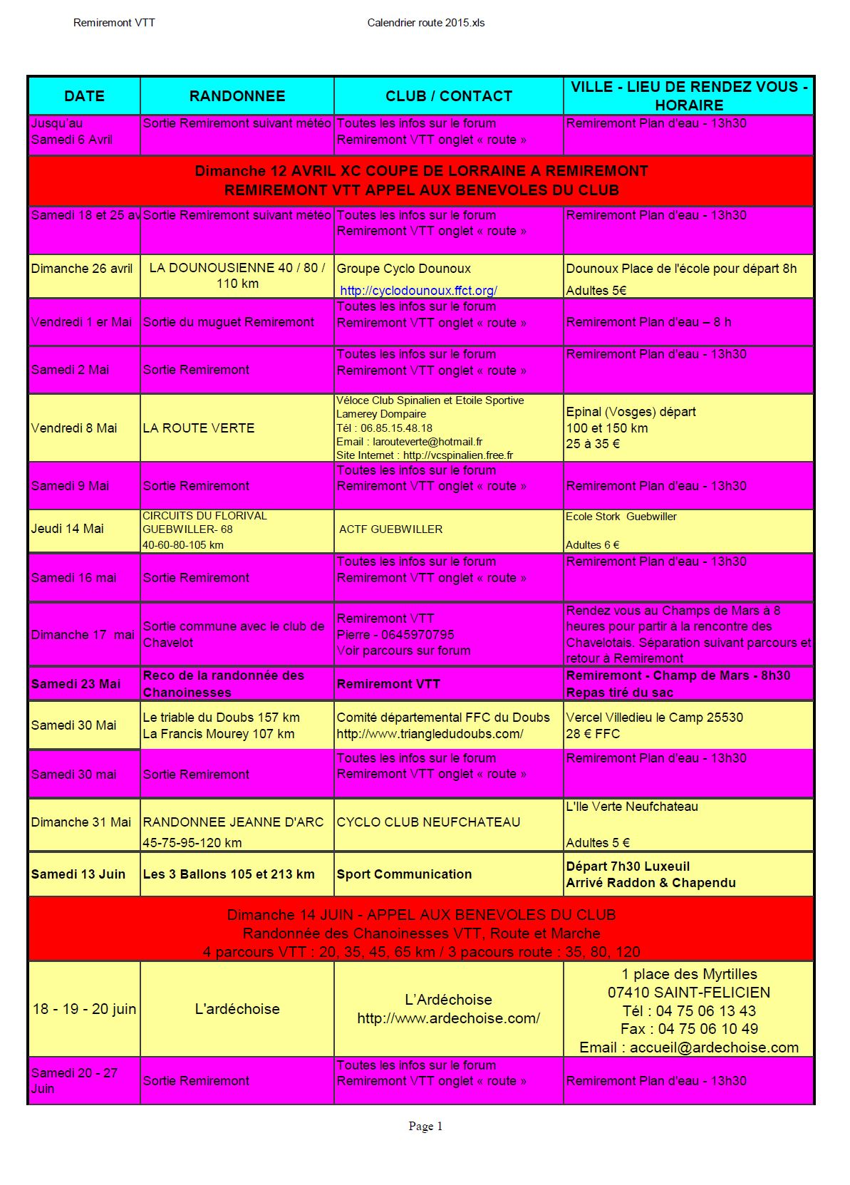 Calendrier route 2015 page1
